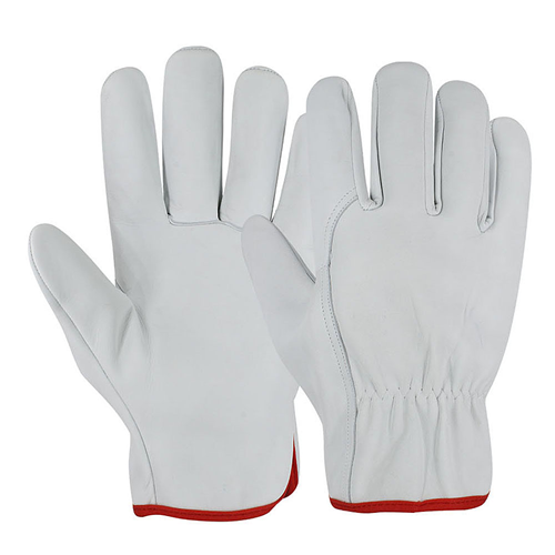 Driver Gloves Working Leather Gloves Safety Work EN388 Safety Golves Goat or Sheep Leather KOKAL Safety White Comfortable Daily