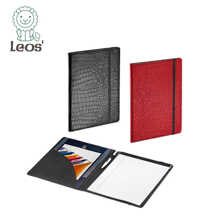 2020 Office Stationery Customized Leather A4 Padfolio Leather Compendium