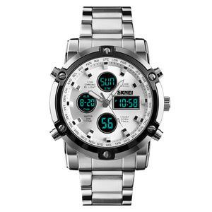1389 day date analog digital wrist watch men skmei best dual time zone