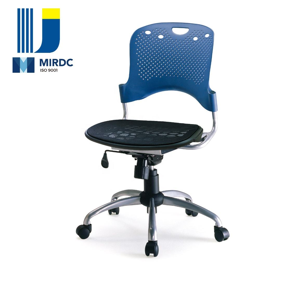 Steel frame office chair with plastic components for workstation/total office use 538BG-P