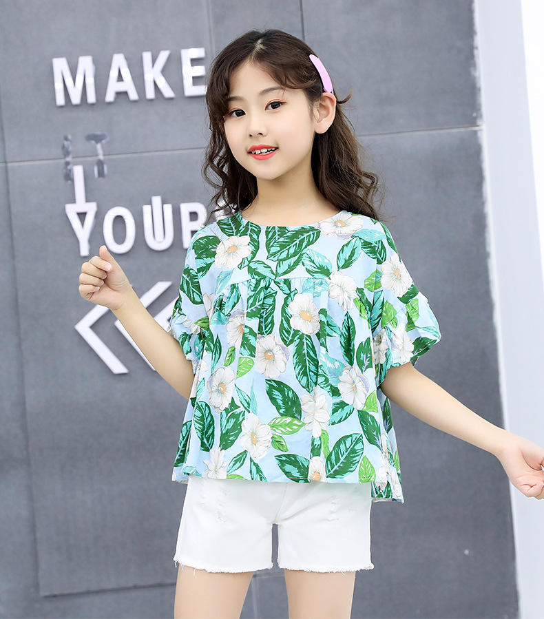 fashion girl wear new fashion summer cute kids clothes for teenage girls clothes sale children clothing
