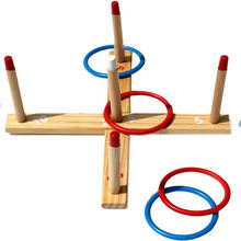 Training Toss Ring Wooden Toy for Kids