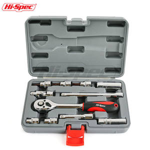 Hi-Spec 11 pc 3/8 Bougiesleutel Hex Socket Adapter Momentsleutel Spanner Set Ratelsleutel Mechanica tool Box Set