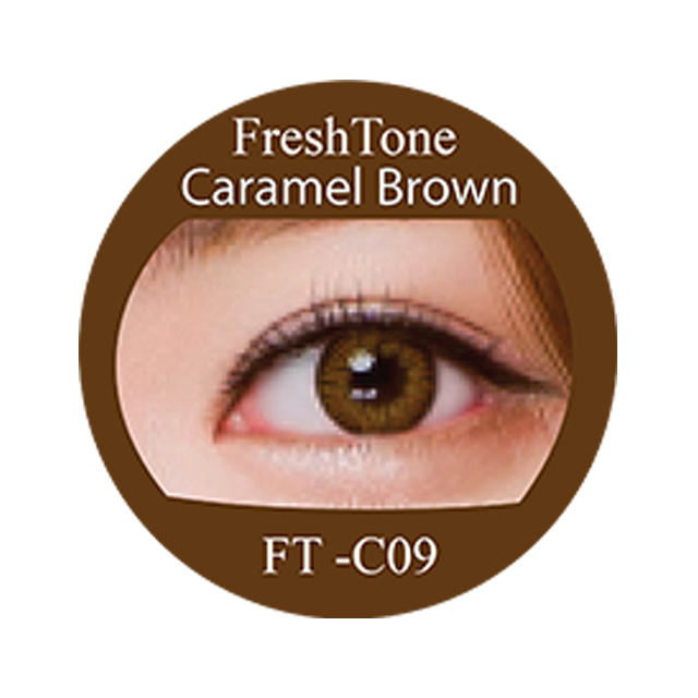 FreshTone Colors of the Wind Beautiful cheap Caramel looks cosmetic contact lens from South Korea