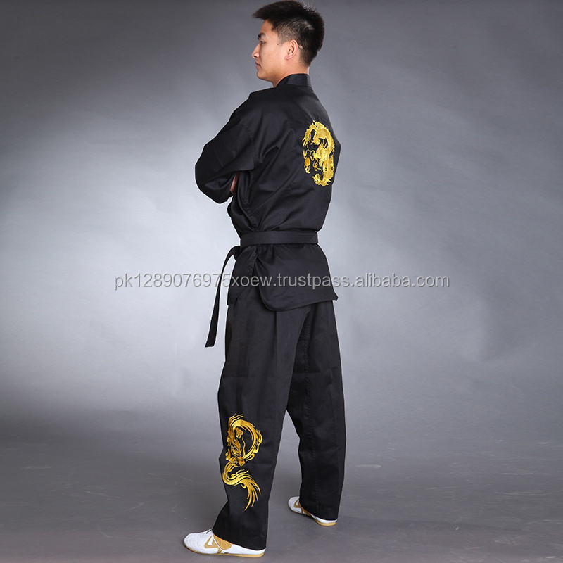Martial arts uniform taekwondo uniform, pakistan manufactured supplier for karate uniform trakwondo suits