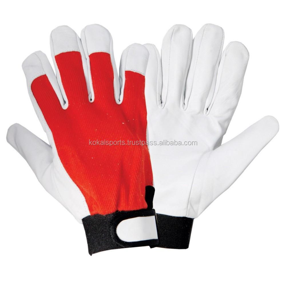 Garden Glove Leather Work Glove Hands Mechanics Safety Glove