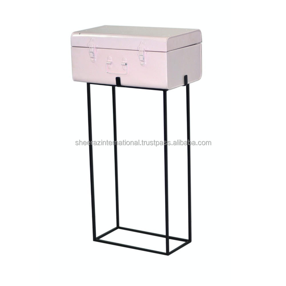 Metal Trunk With Stand