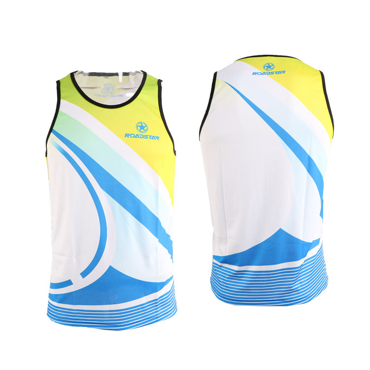 100 polyester sublimated shirts dry fit sports running singlet