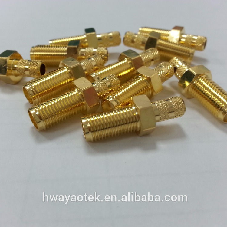 RP SMA FEMALE BULKHEAD CRIMP for LLC200 RG58 LMR200