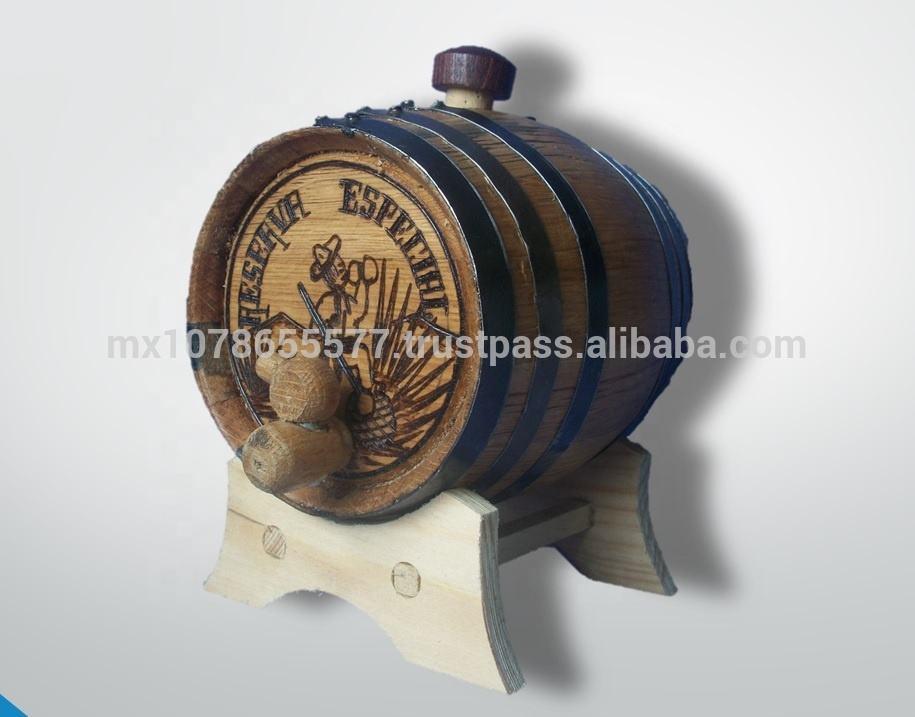 Handmade white oak barrel 1 liter , to age whiskey, tequila, ron, beer, wine