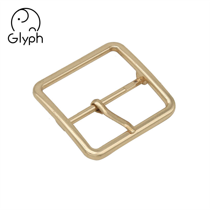 High quality fashion metal 38mm gold center bar pin belt buckle for belt
