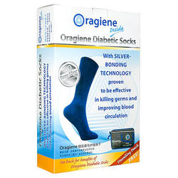 Cotton Heatlh Care Product Oragiene Foot Care Socks With Silver Bonding Technology