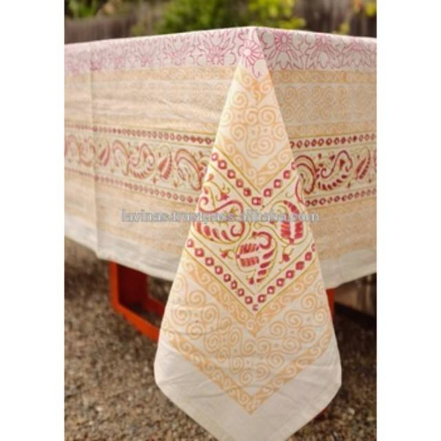 Indian Cotton Table Cloth Handmade Linen Table Cloth Table Cover