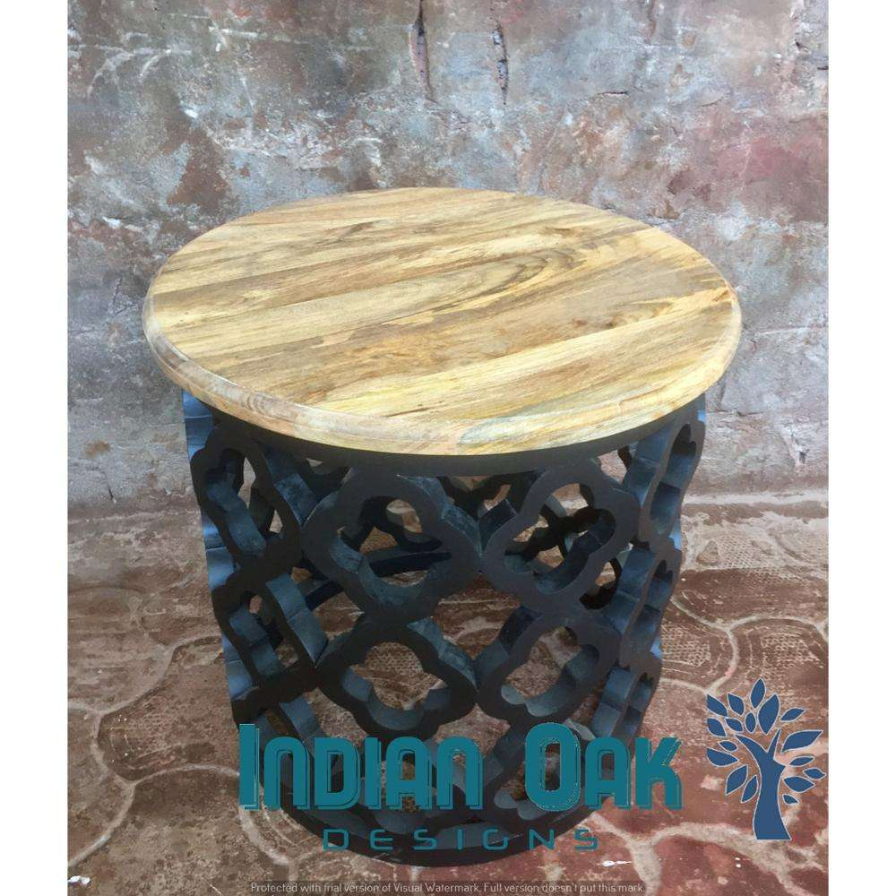 Rustic Furniture Carved Wooden Coffee Table Mango Wood Tea table