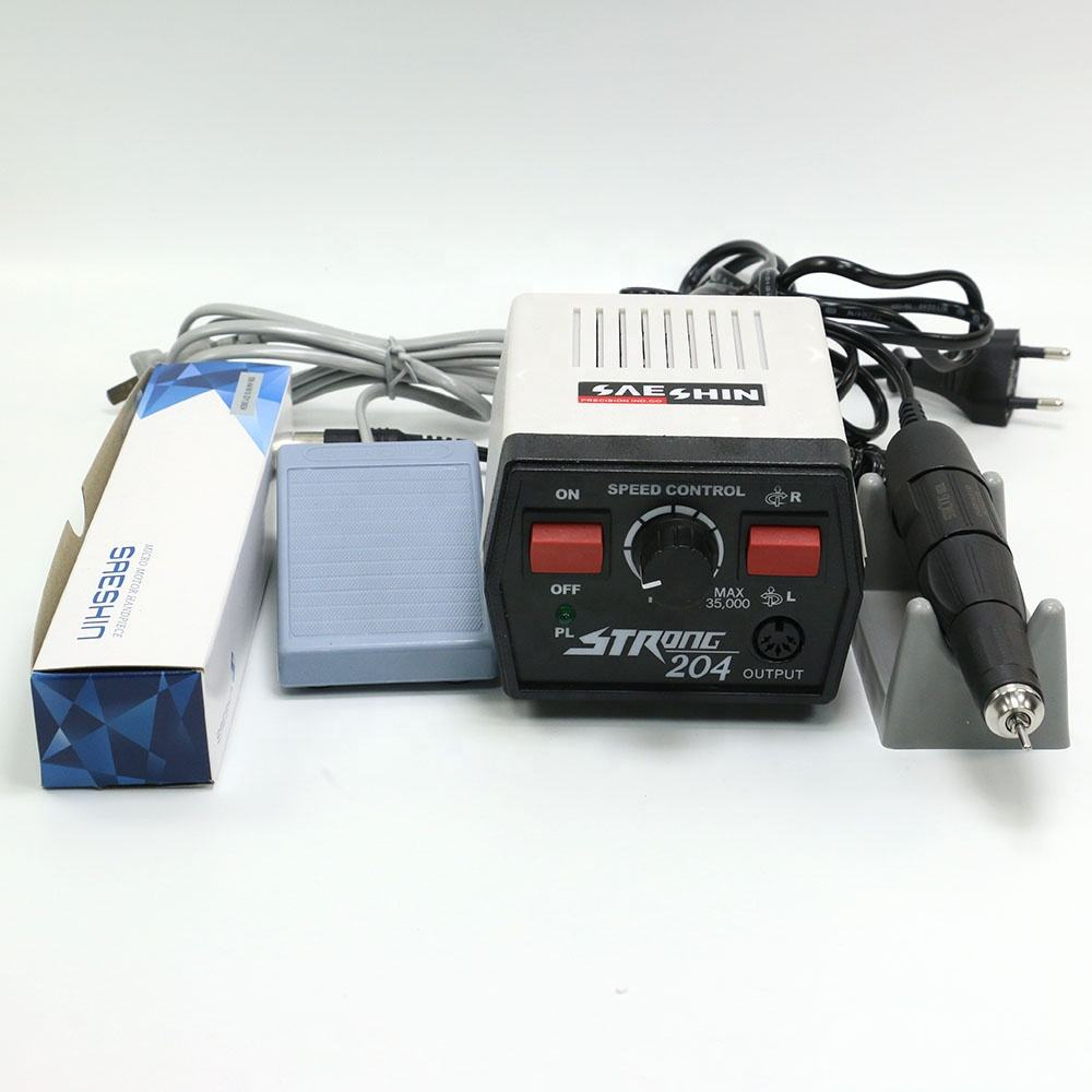Dental Lab micro motor 35000 Rpm Micromotor Strong 204 with micro motor handpiece 102L Manicure