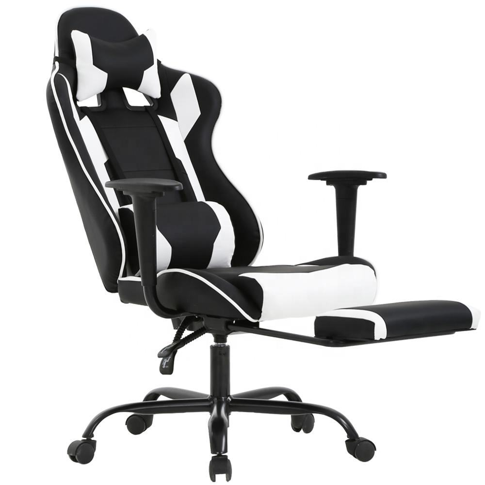Gaming Chair Cheap Commercial Leather Office Gaming Chair With Footrest