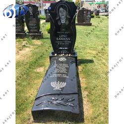 Regular Indian Black Granite Monument Grave Stone