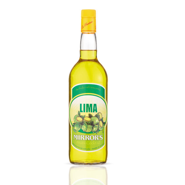 Lemon Flavored Mirror's Non Alcoholic Lime Liqueur