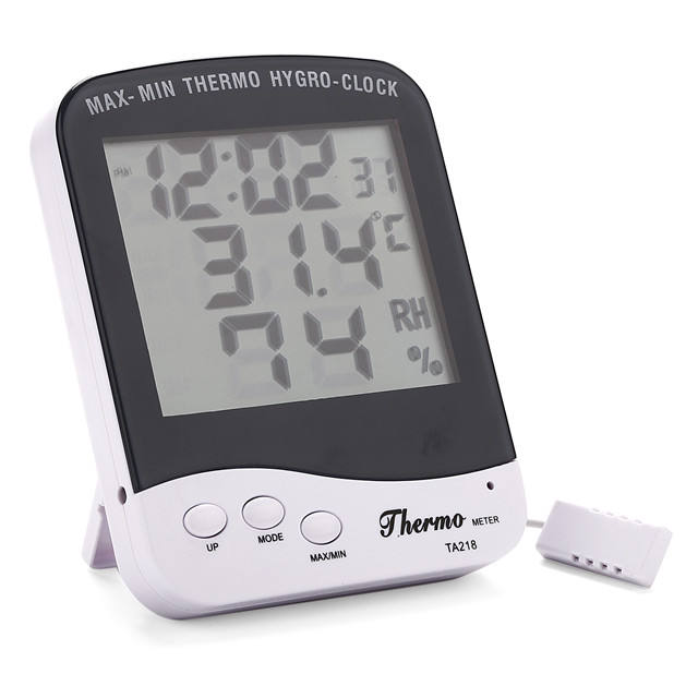 Super Digitale Display Desktop LCD Hygrometer Thermometer Weerstation F/C