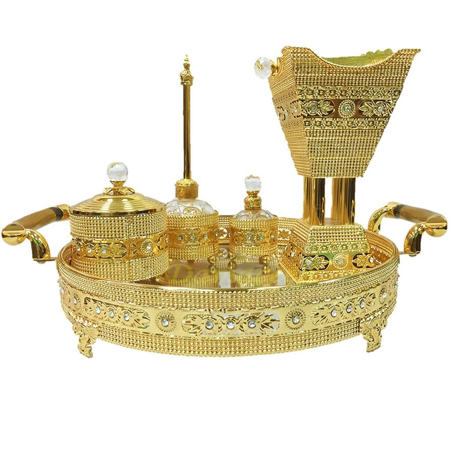Indah Bakhoor Burner Set ~ Antik Kuningan Incense Burner