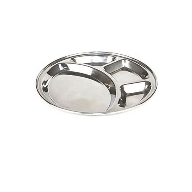 Stainless Steel Round Mess Tray