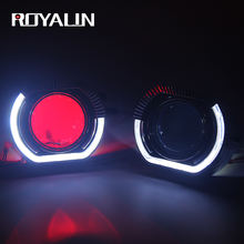 ROYALIN Bi Xenon Head Light Projector Lens With LED DRL universal Daytime Running Light For BMW Auto Head Lamps
