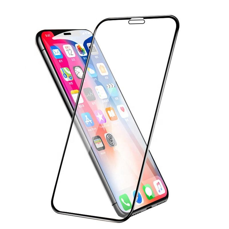 5D anti-shock silk print curved edge for iphone 11 11pro 11pro max screen protector