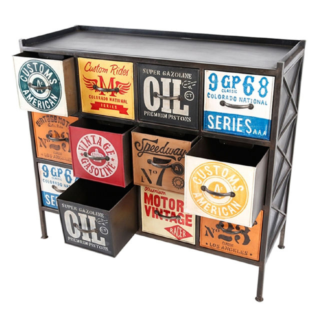 Industrial Iron Drawer Chest