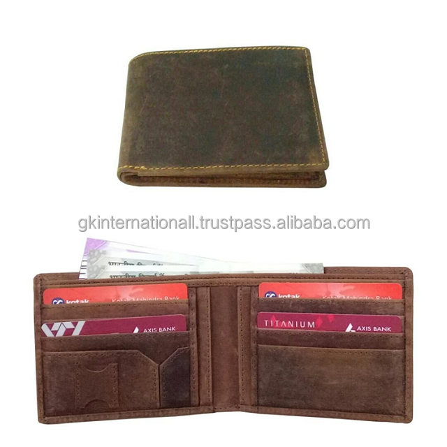 Men's Leather Wallets made in India bulk order