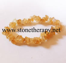 Beautiful Citrine Chips Bracelet For Sale | New Age Metaphysical Wholesale Shop | Stonetherapy Exports India