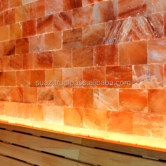 Himalayan salt therapy, Himalayan Natural Rock Salt Tiles, Himalayan Salt Wall Panels include 100% natural Himalayan salt blocks