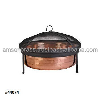 Hammered Fire Bowl Home Garden Outdoor Heater Fire Pit Fire Bowl