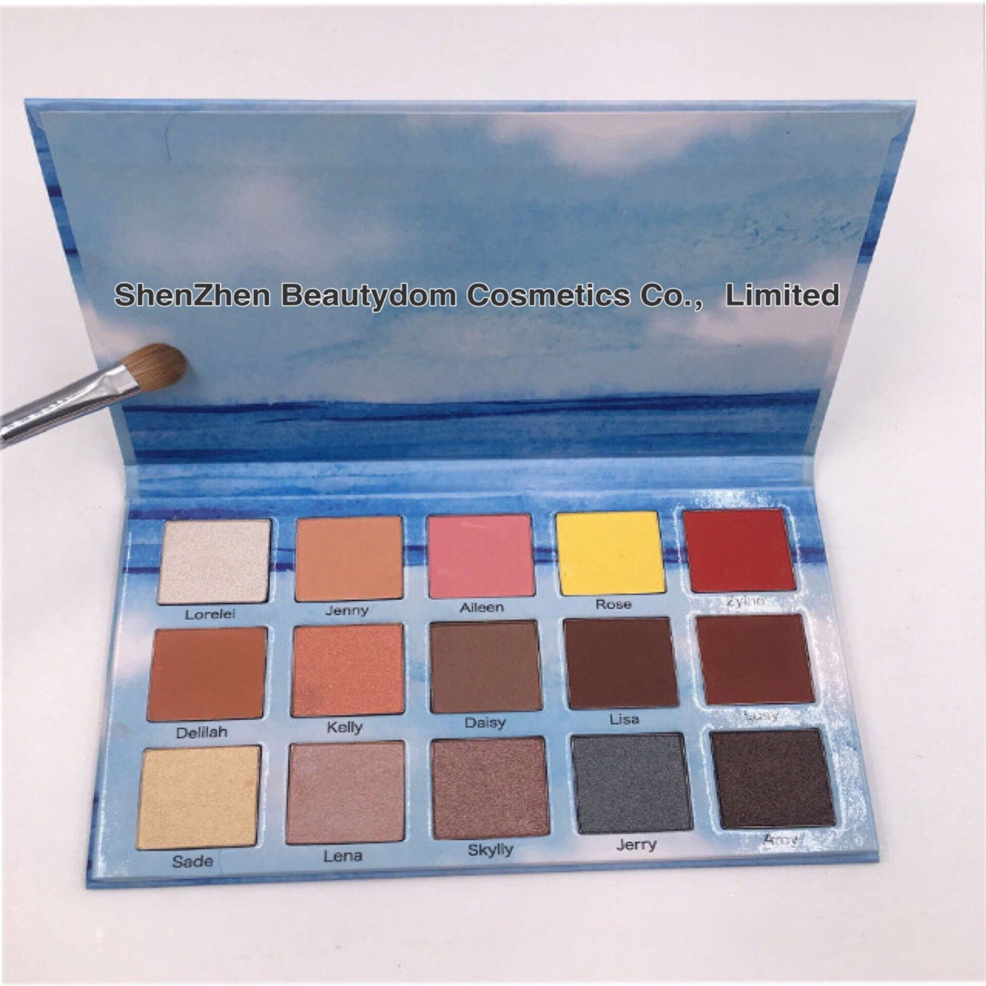 New Professional Custom 15 Colors High Quality Eye Shadow Palette with Private Logo