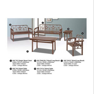 현대 Metal Domica KD-7112 Living 룸 Sofa Set 7 Seater & 표 말레이시아