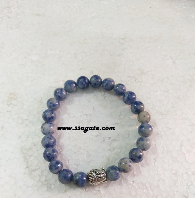 Sodalite With Buddha Bracelet : Wholesale Bracelet : Gemstone Bracelet