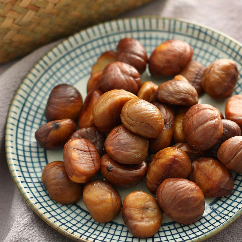 Chestnuts food organic roasted peeled chestnuts