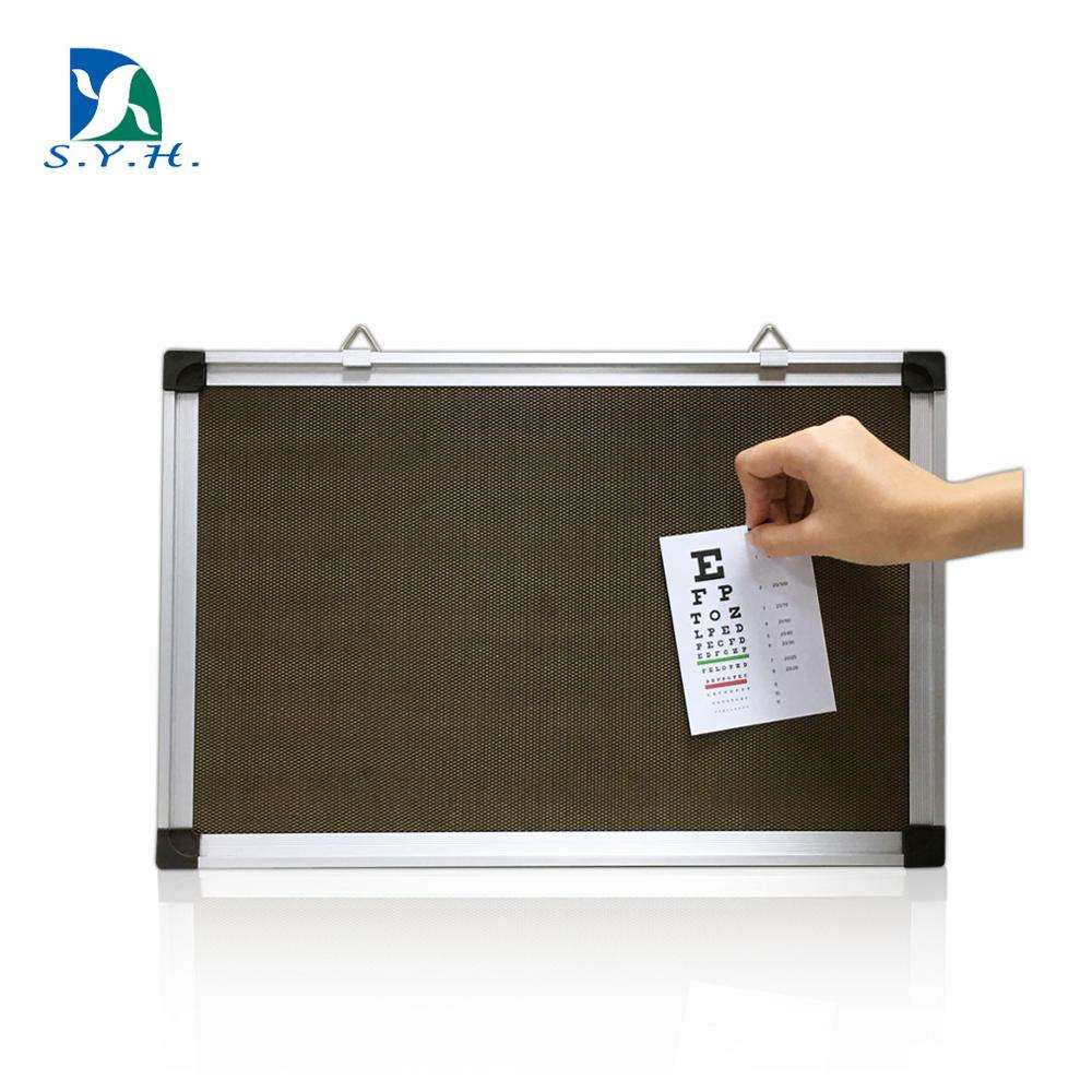 Magnetic bulletin memo board with aluminum frame for push pins and magnets