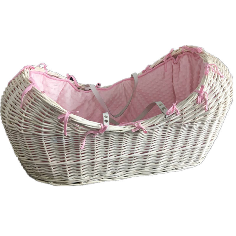 Wholesale baby sleeping basket moses bakset bassinet wicker baby basket