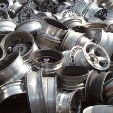 Aluminium car wheel scrap
