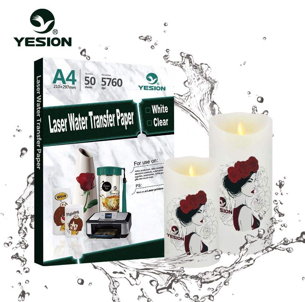 Yesion Fabriek Verkopen direct A4 inkjet/laser water slide decal transfer printen papier