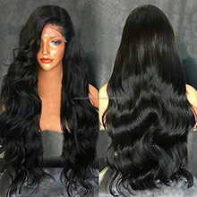 SILKY HUMAN HAIR FRONT LACE WIGS WITH VIRGIN REMY HAIR IN SOUTH INDIA