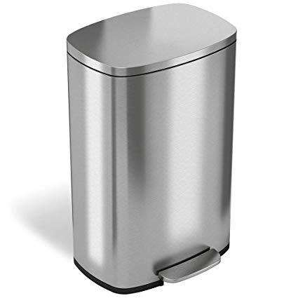 Pure trash can metal lid with paddle