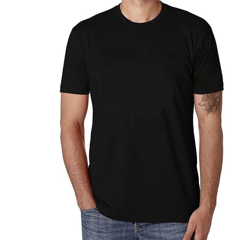 wholesale men blank causal Black T Shirts With Custom Logo Printing