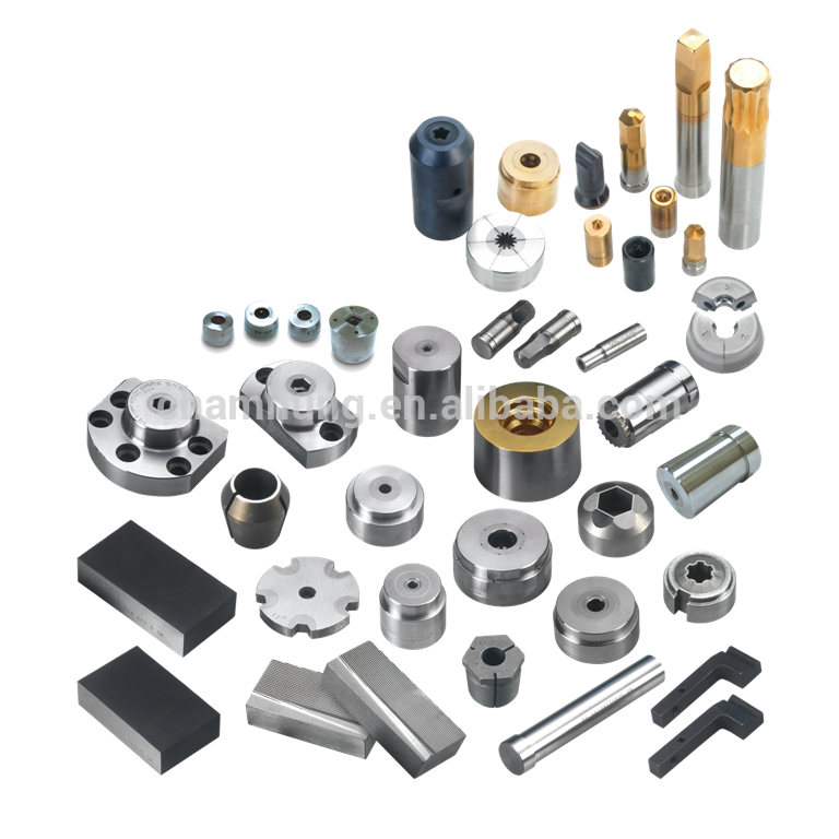 Custom HSS OEM Punch & Die Pins for Fastener production, Taiwan Manufacturer with any coatings, materials