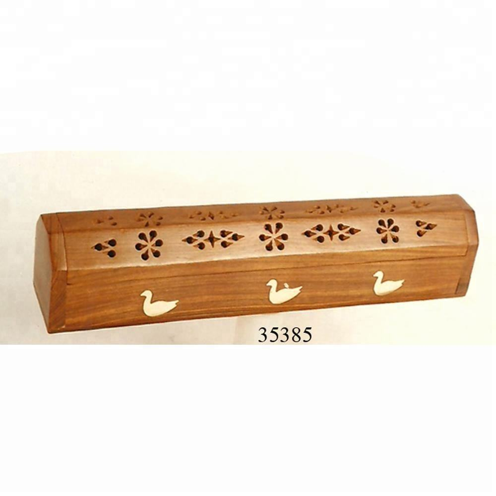 Decorative Wooden Coffin box incense aroma burner for sale