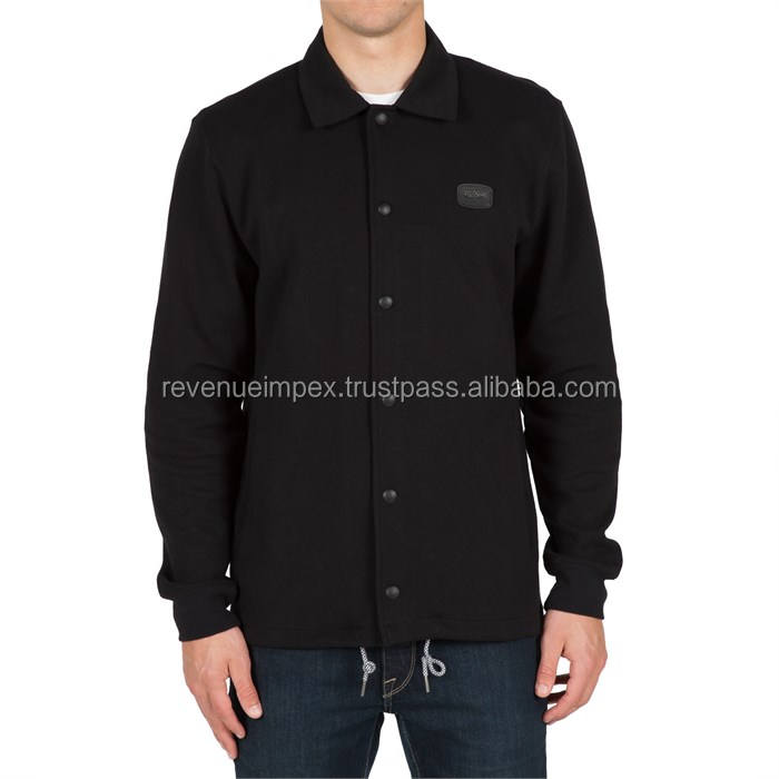 button up coaches jacket in classic design/classic design adults coaches jacket