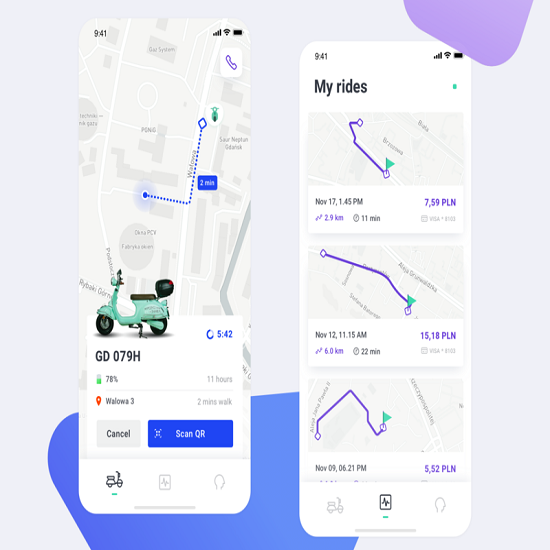 App for Electric Scooter Sharing