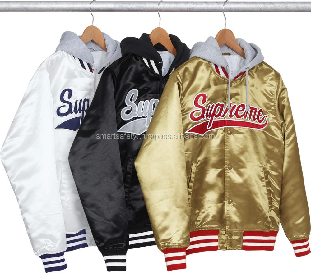 new arrival Custom Men baseball Quilted bomber baseball Satin Varsity Jackets in all colors