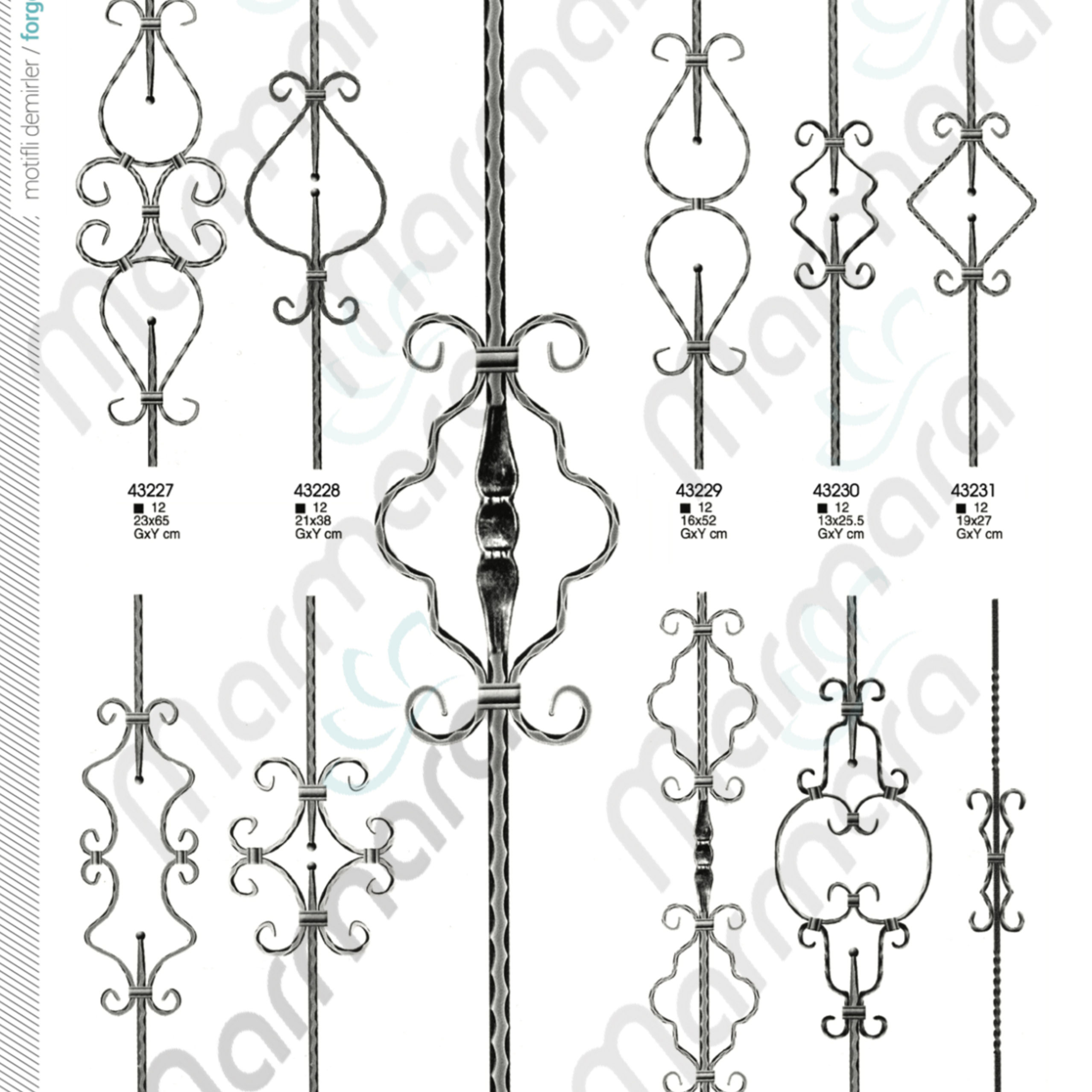 Best Quality Turkish Baluster - Wrought Iron component for stair