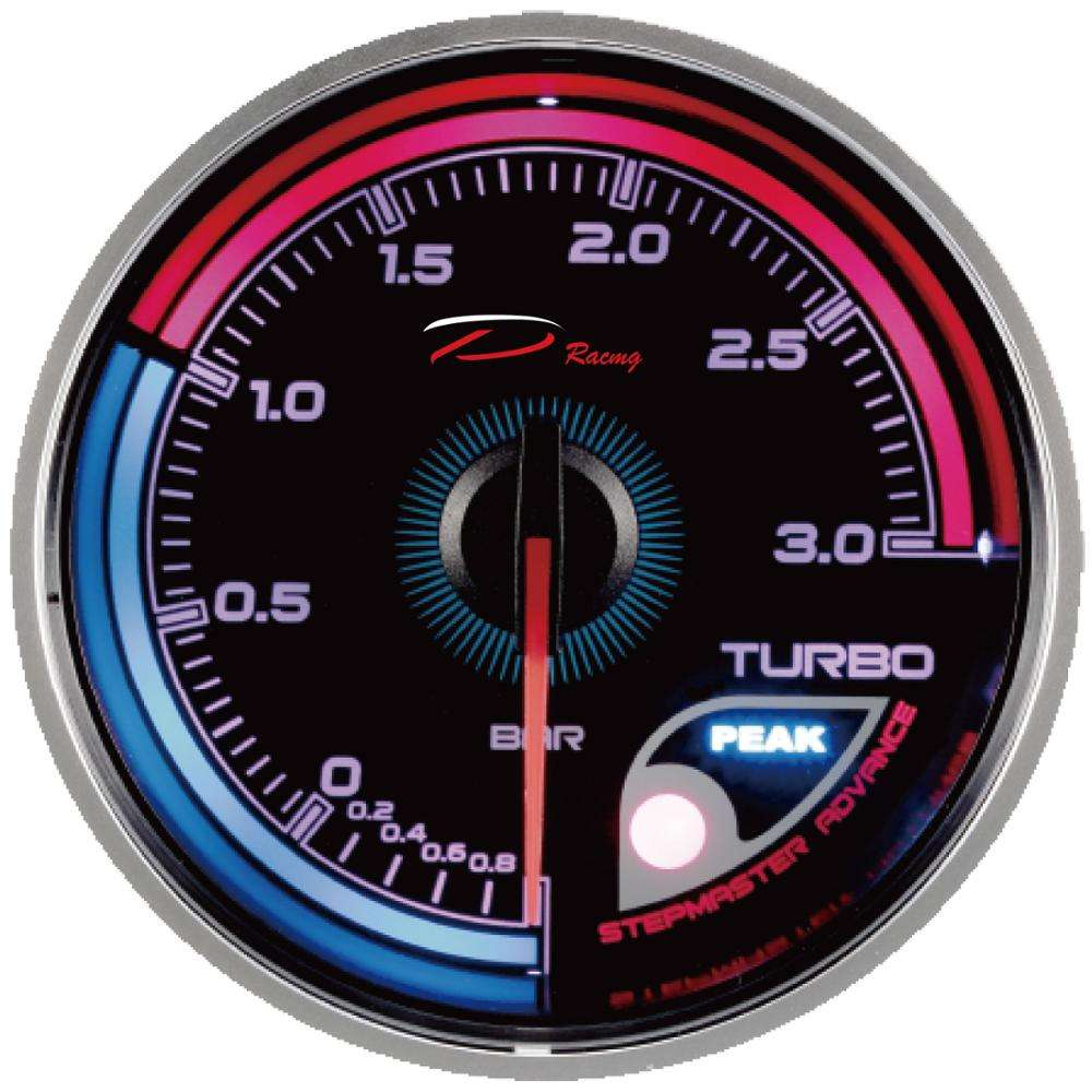 60mm course boost turbo jauge 256 couleurs led